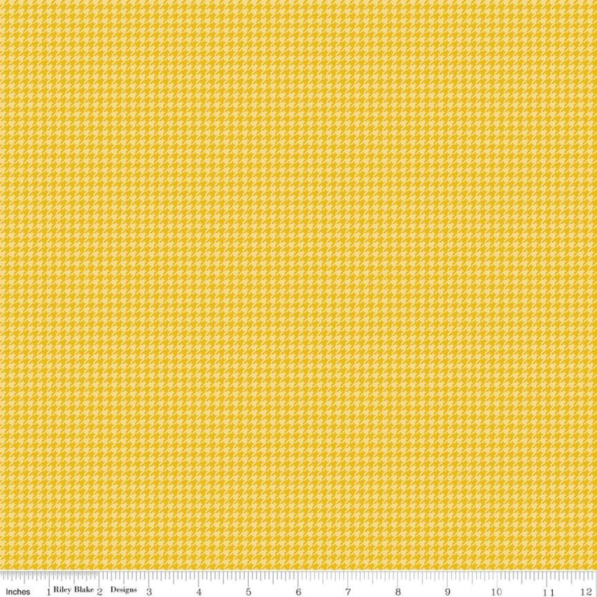 Petals & Pedals Houndstooth Yellow