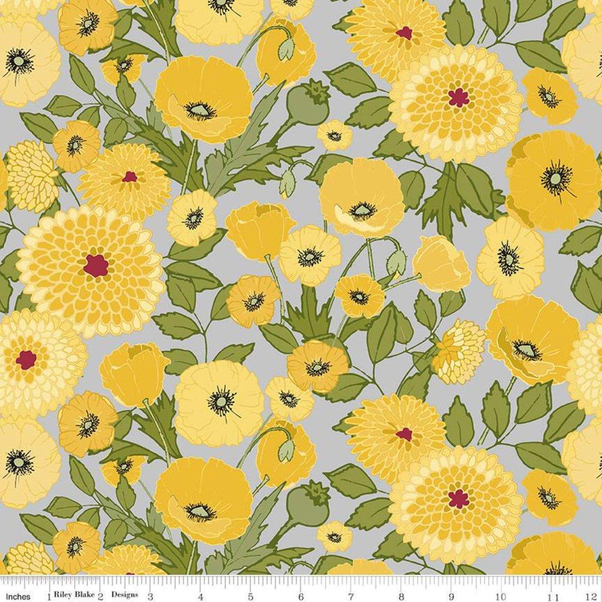 Petals & Pedals Gray Main Print