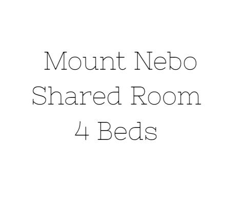 Mount Nebo Shared Room Deposit (6/16-6/20)