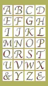 Green Alphabet Panel