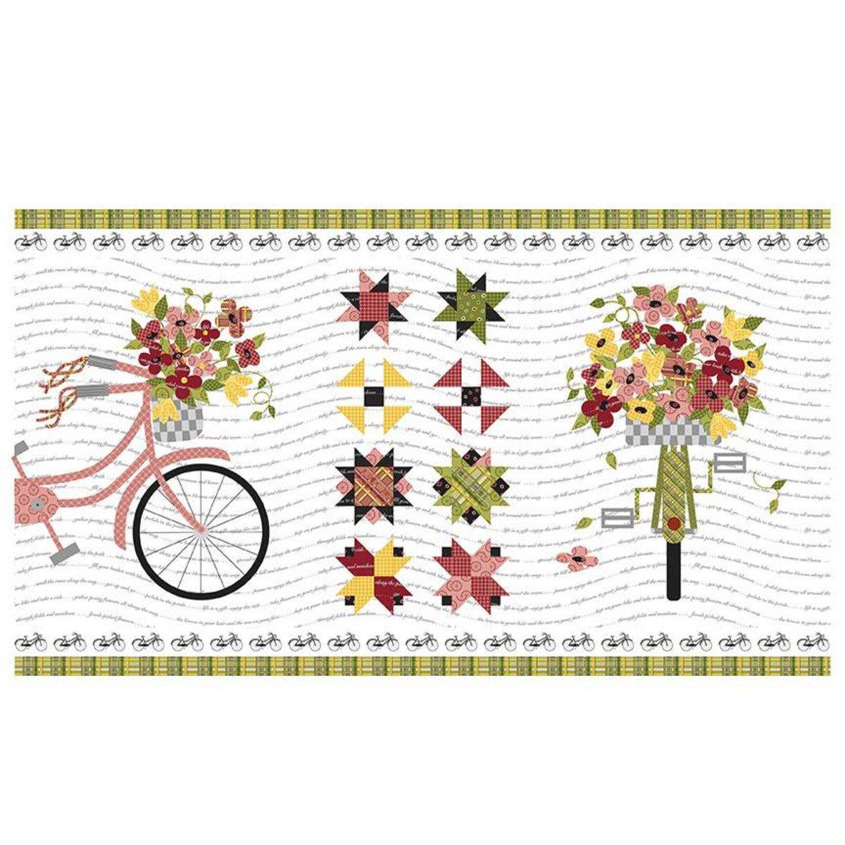 Petals & Pedals Panel - White