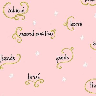 Twirl Pink Ballet Print