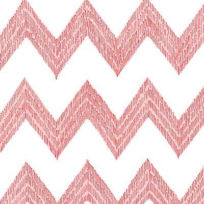 Poppy Patio Pink and White Chevron