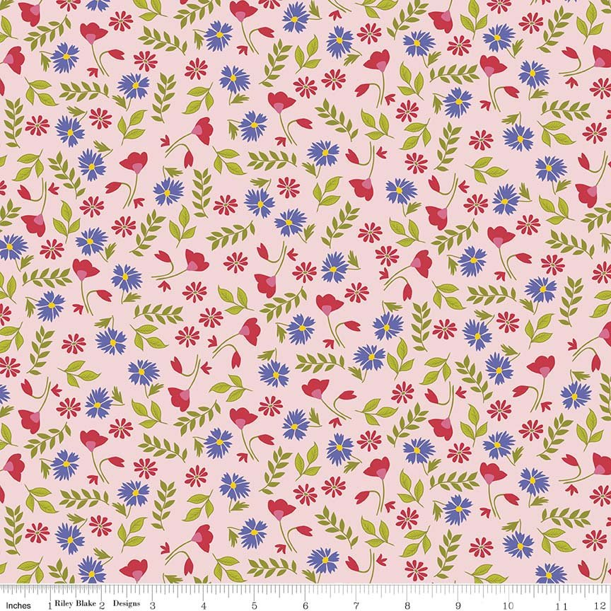 Meadow Sweets Pink Floral Small Print