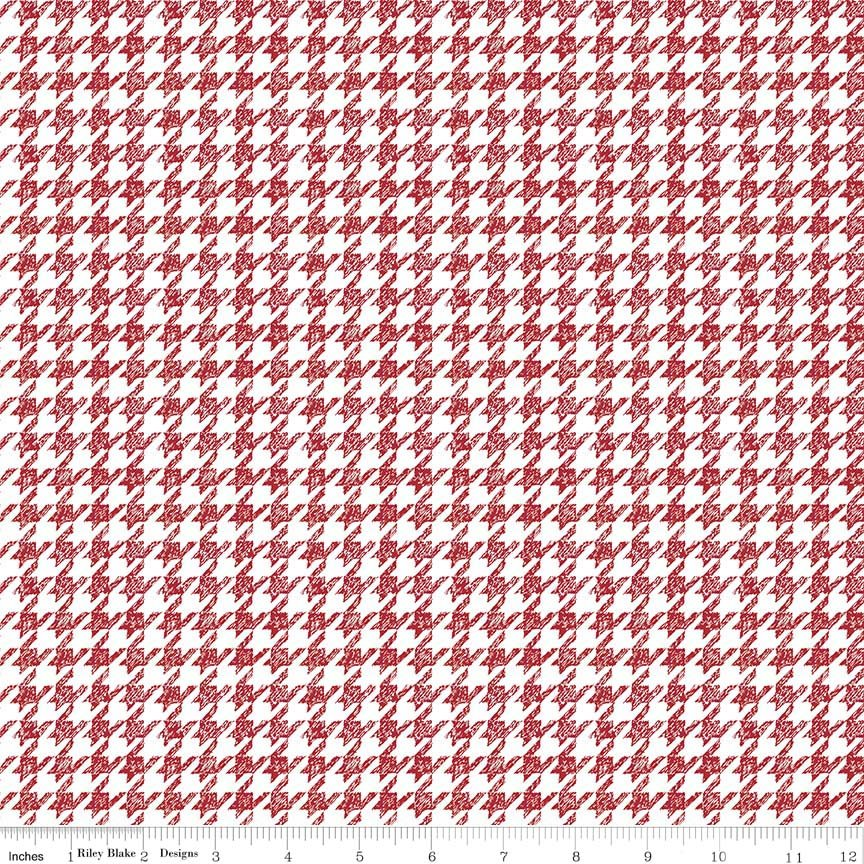 Meadow Sweets Red and White Houndstooth