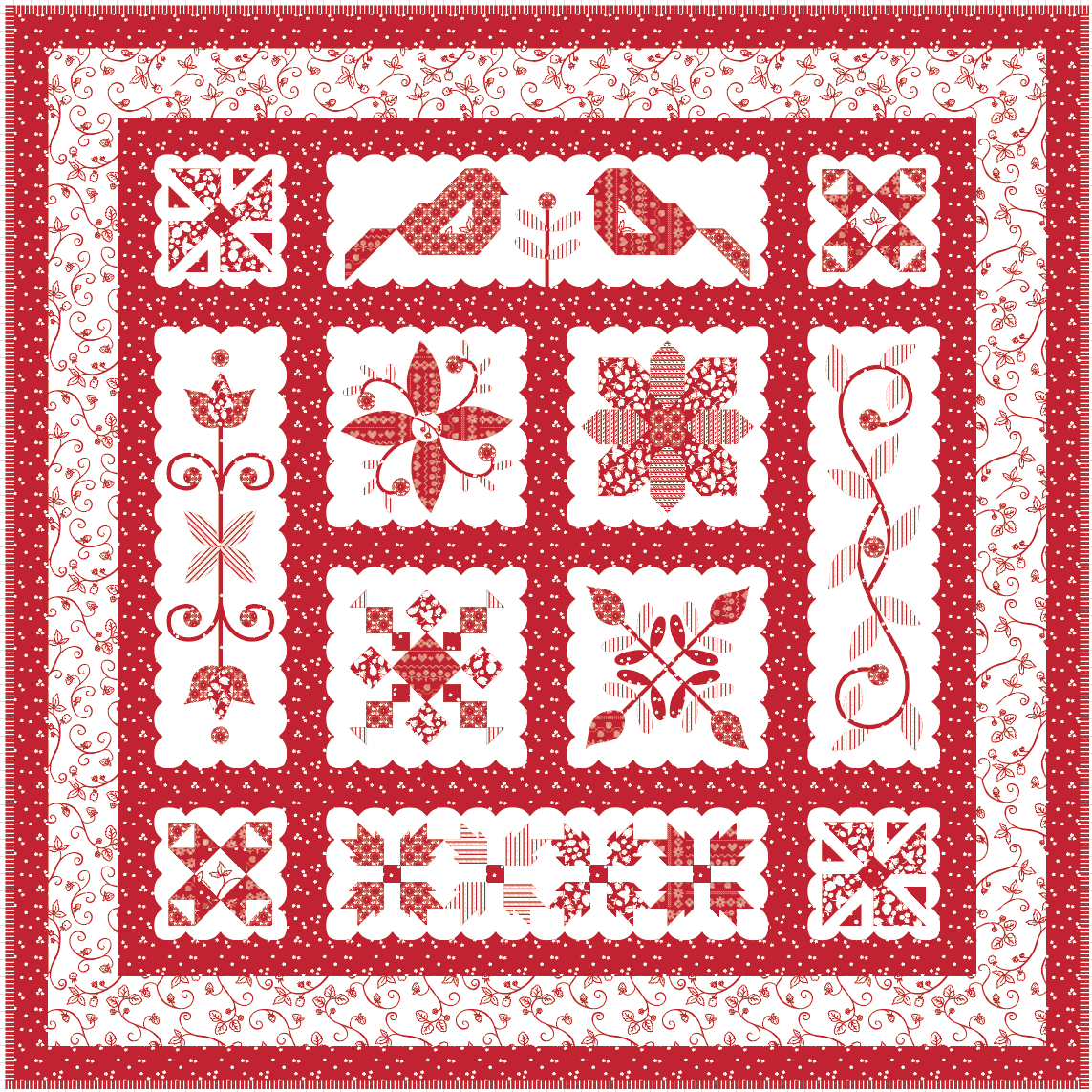 Swiss Miss Quilt Kit - 2 Colorways!