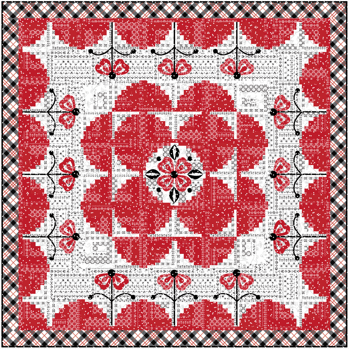 Red Licorice Quilt Kit