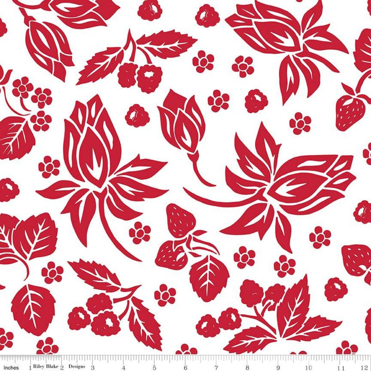 It's the Berries White Main Print
