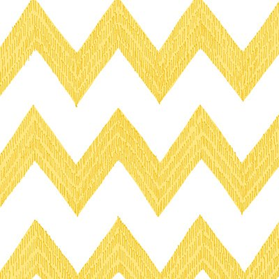 Poppy Patio Yellow and White Chevron