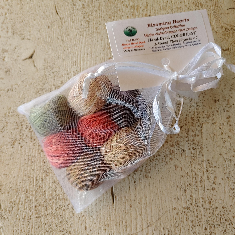 Blooming Hearts punchneedle thread kit
