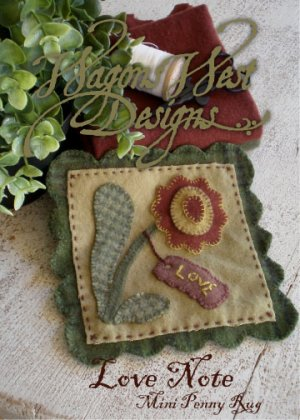 Love Note Wool Applique
