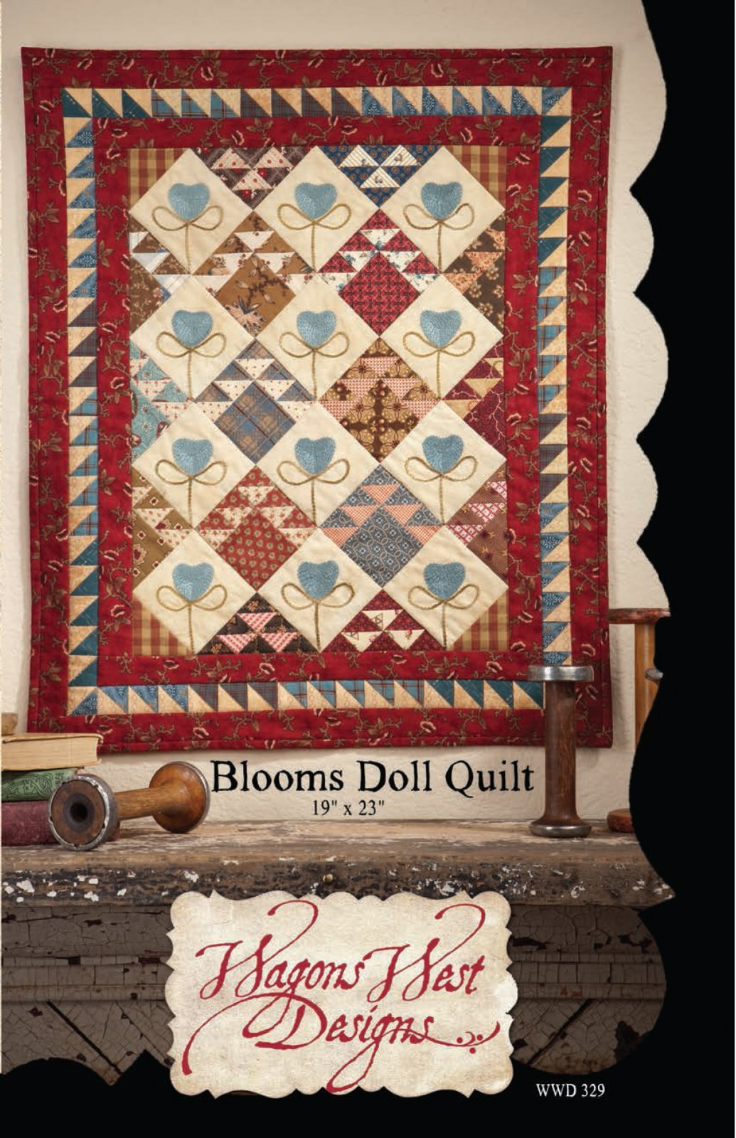 Blooms Doll Quilt