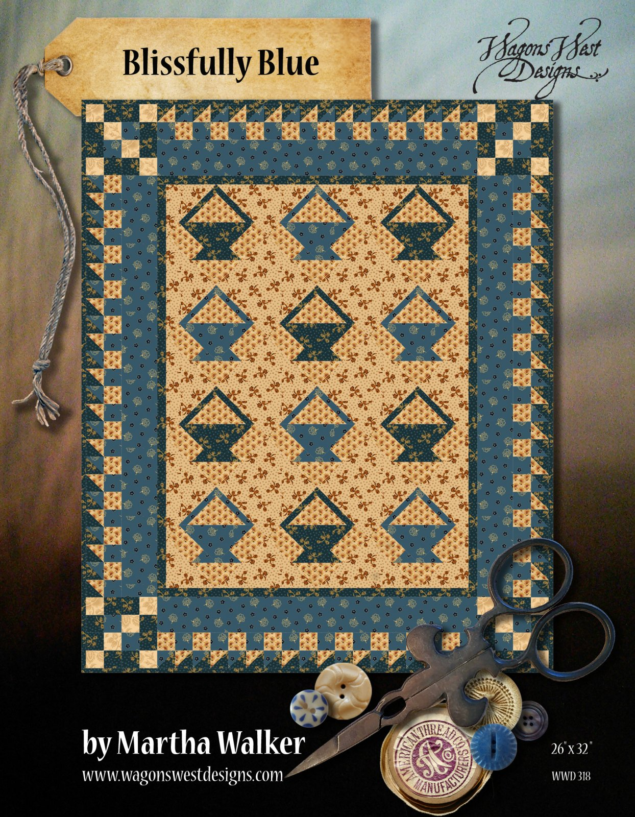 Blissfully Blue E pattern