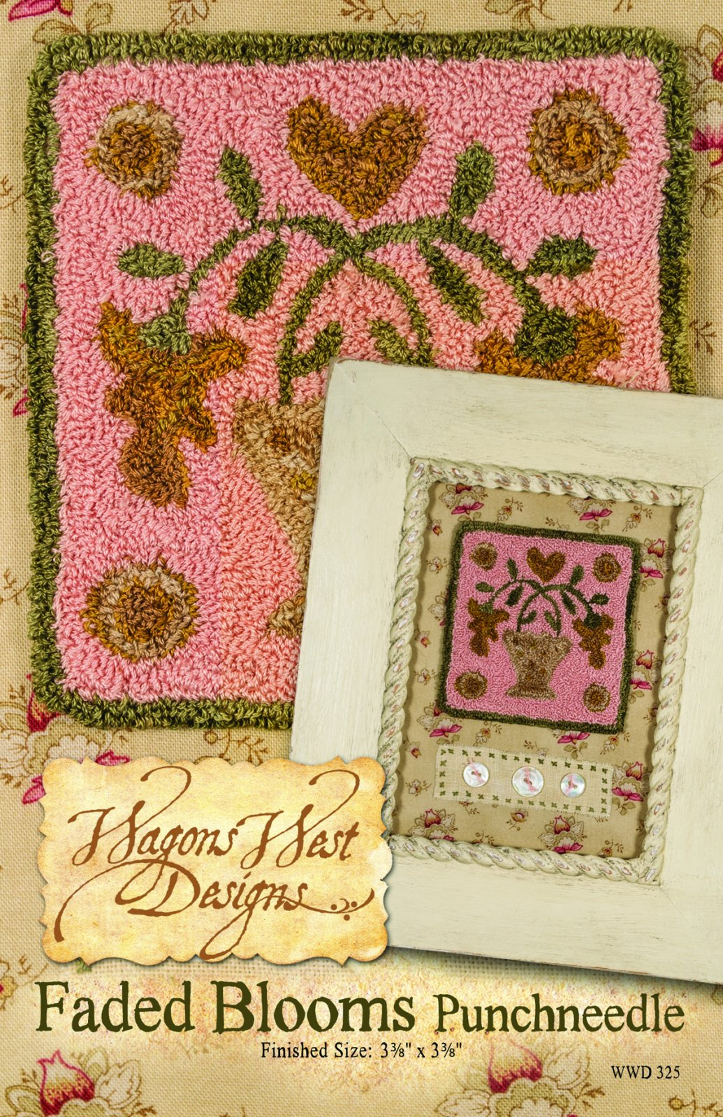 Faded Blooms Punchneedle