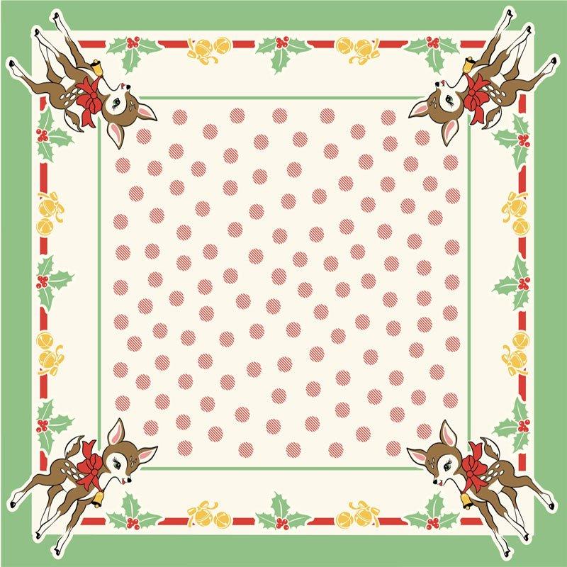 Deer Christmas Tablecloth 981 156
