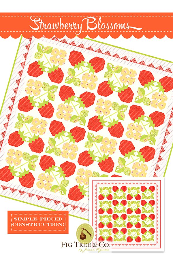 Strawberry Blossoms Fig Tree Quilt Pattern