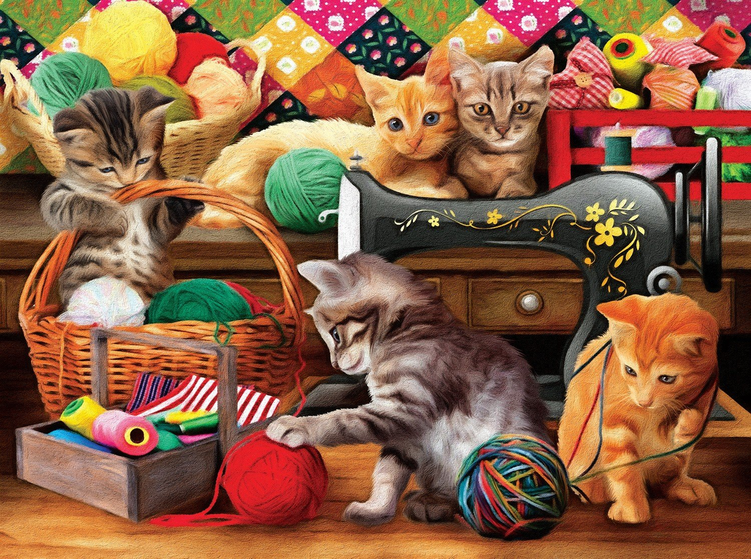 Fun In The Craft Room Jigsaw Puzzle