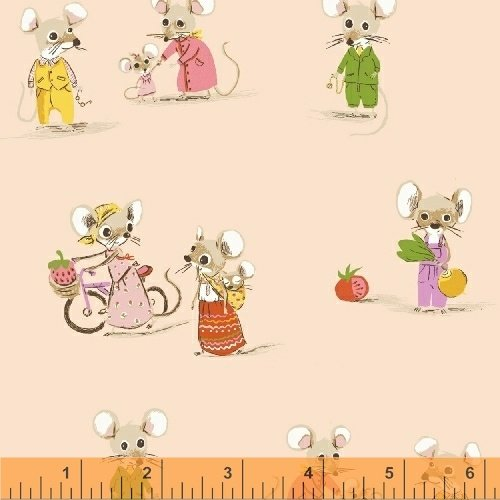 Trixie Country Mouse by Heather Ross 50897-2 blush