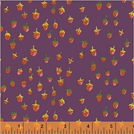 Trixie Field Strawberry by Heather Ross 50899-11 Plum
