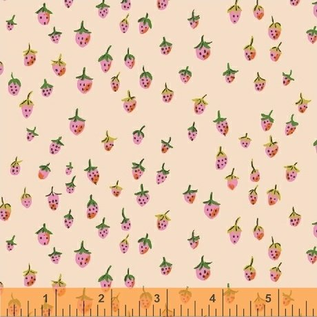 Trixie Field Strawberry by Heather Ross 50899-2 Blush