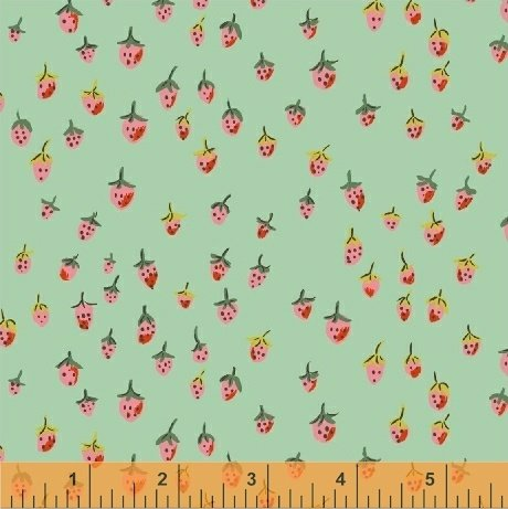 Trixie Field Strawberry by Heather Ross 50899-8 Aqua