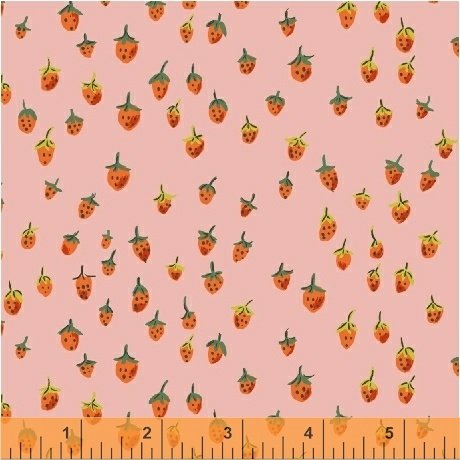 Trixie Field Strawberry by Heather Ross 50899-9 Pink