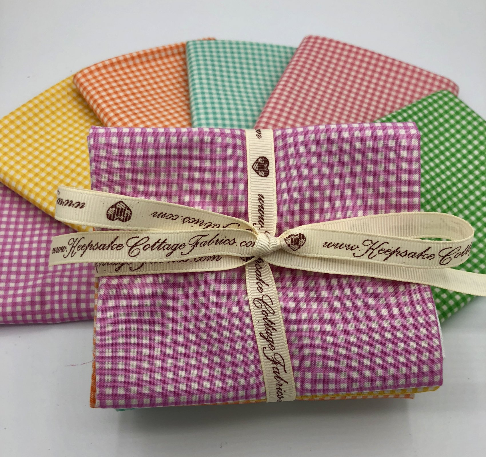 Gingham Checks Fat Quarters by Heather Ross, Trixie