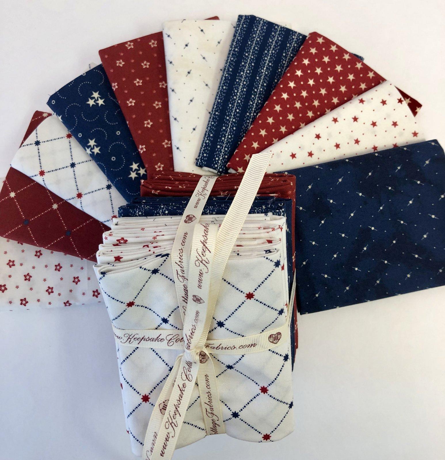 Stars and Stripes Gatherings 10 Fat Quarter Bundle