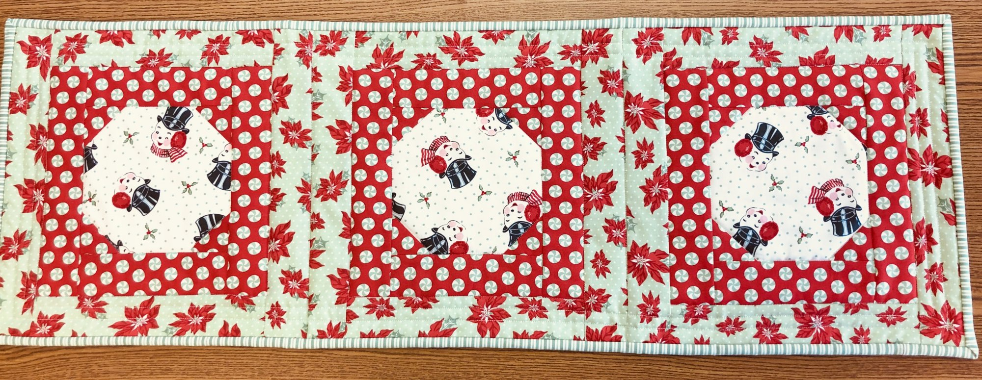 Second Time Around Snowman Table Runner