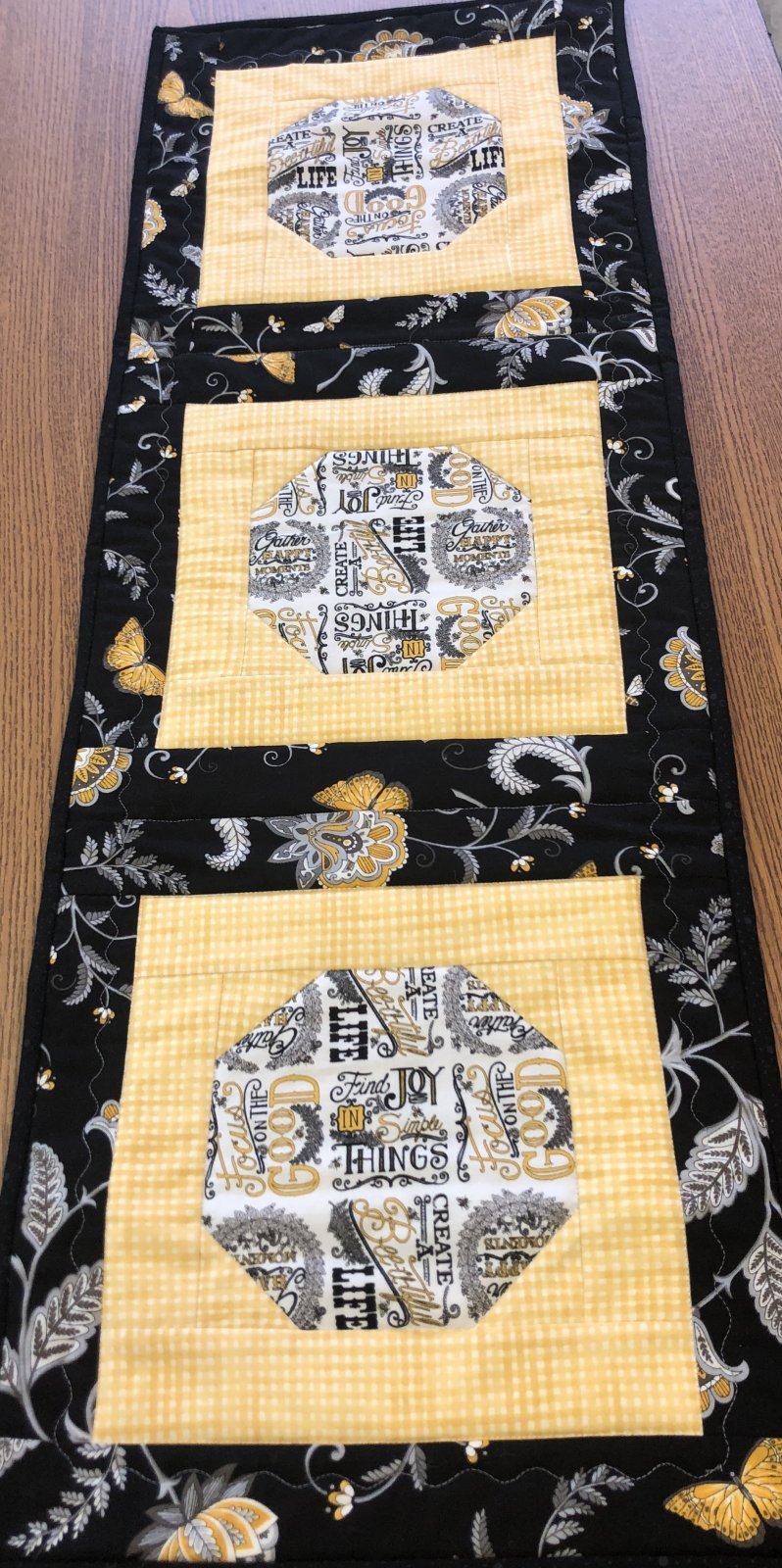 Bee Joyful Second Time Around Table Runner Kit