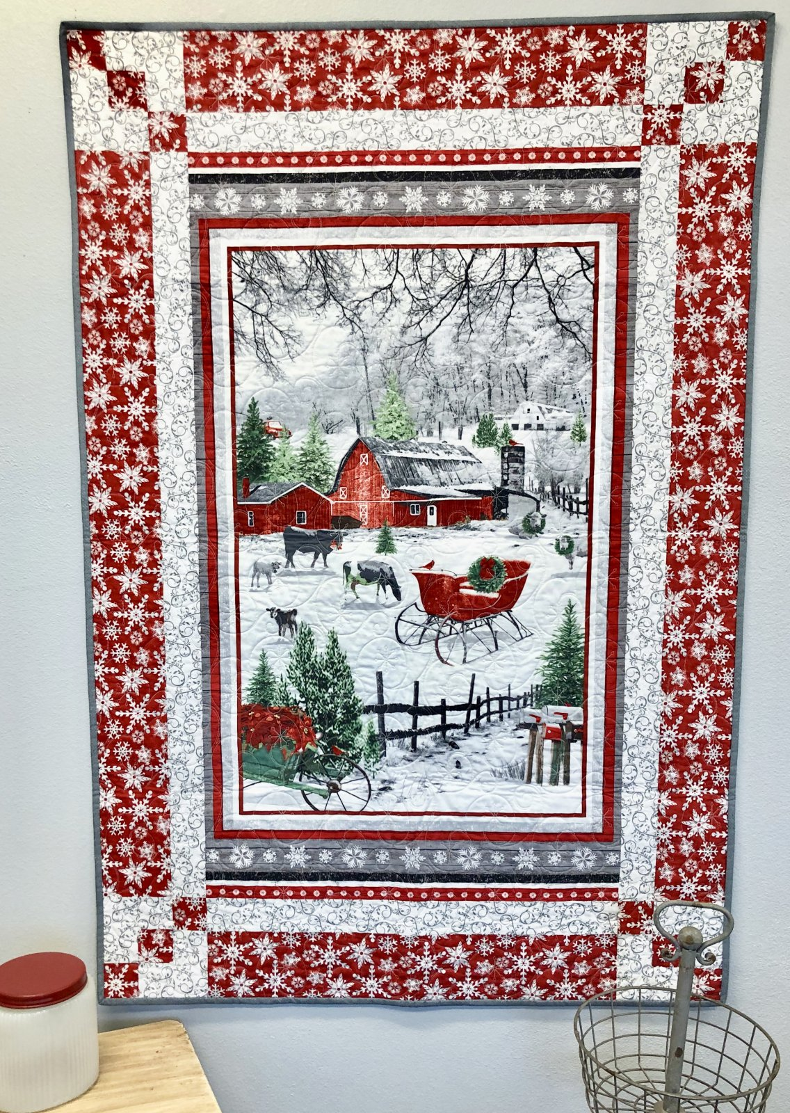 Holiday Homestead Panel Magic Quilt Kit