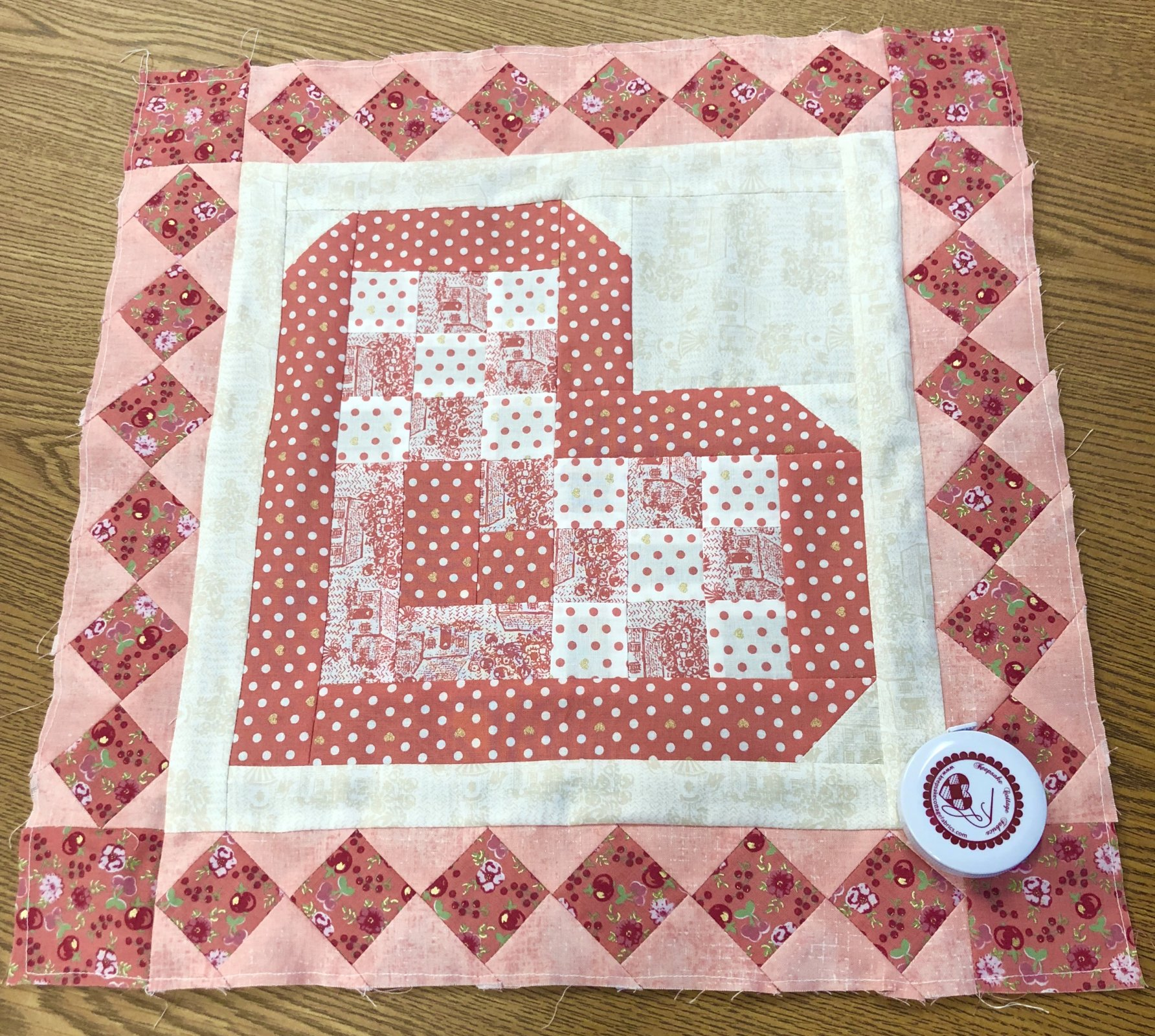 February Monthly Mini Quilt Free Pattern