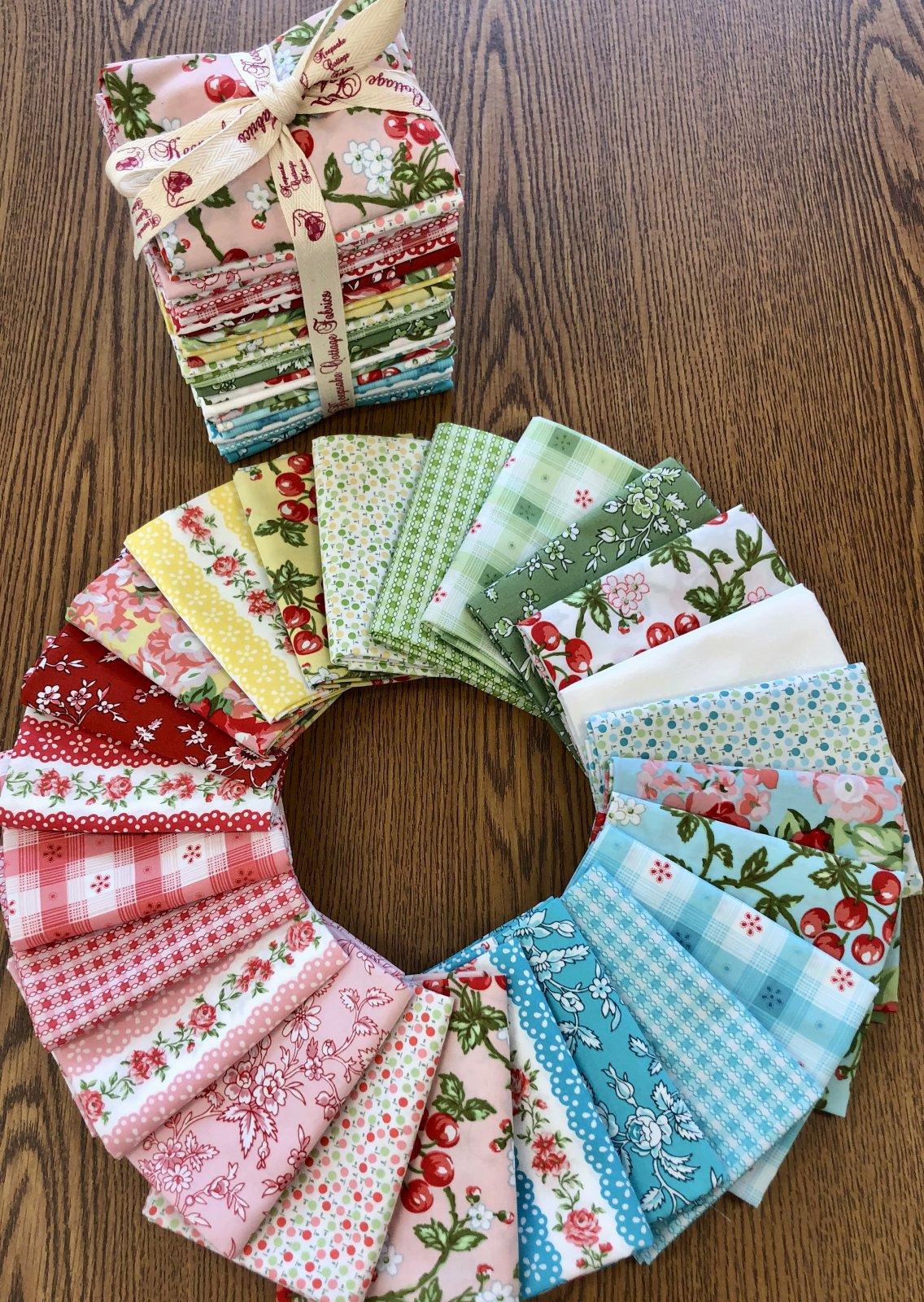 Flower Garden Fat Quarter Bundle by Eleanor Burns
