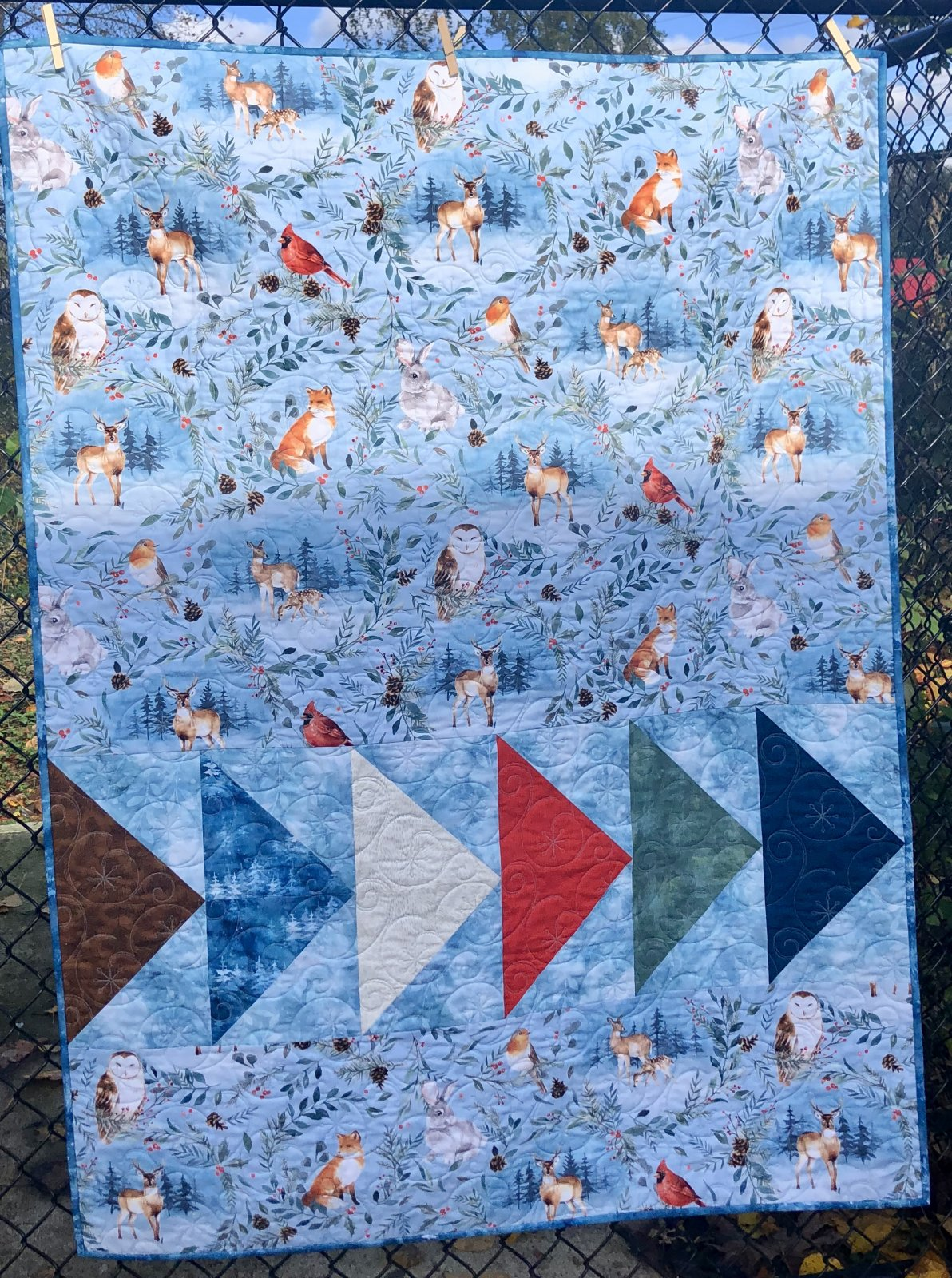 Woodland Winter Quilt Kit