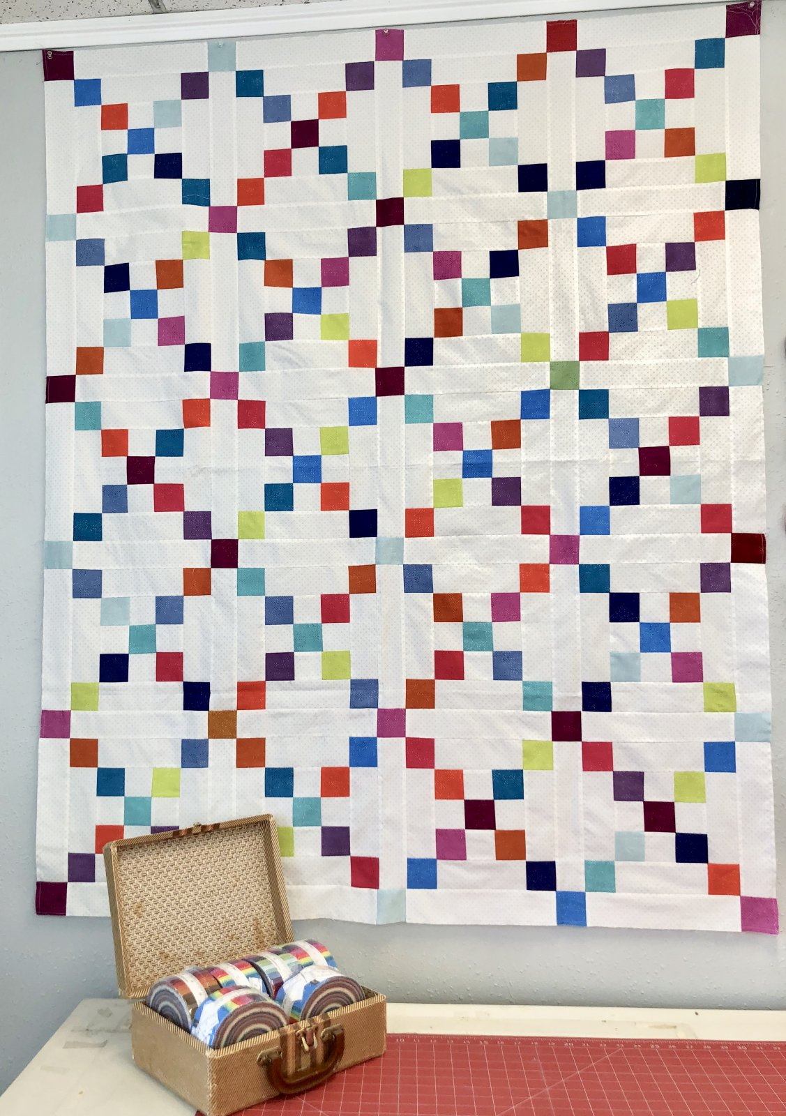 March 2021 Free Quilt Pattern Simple Irish Chain