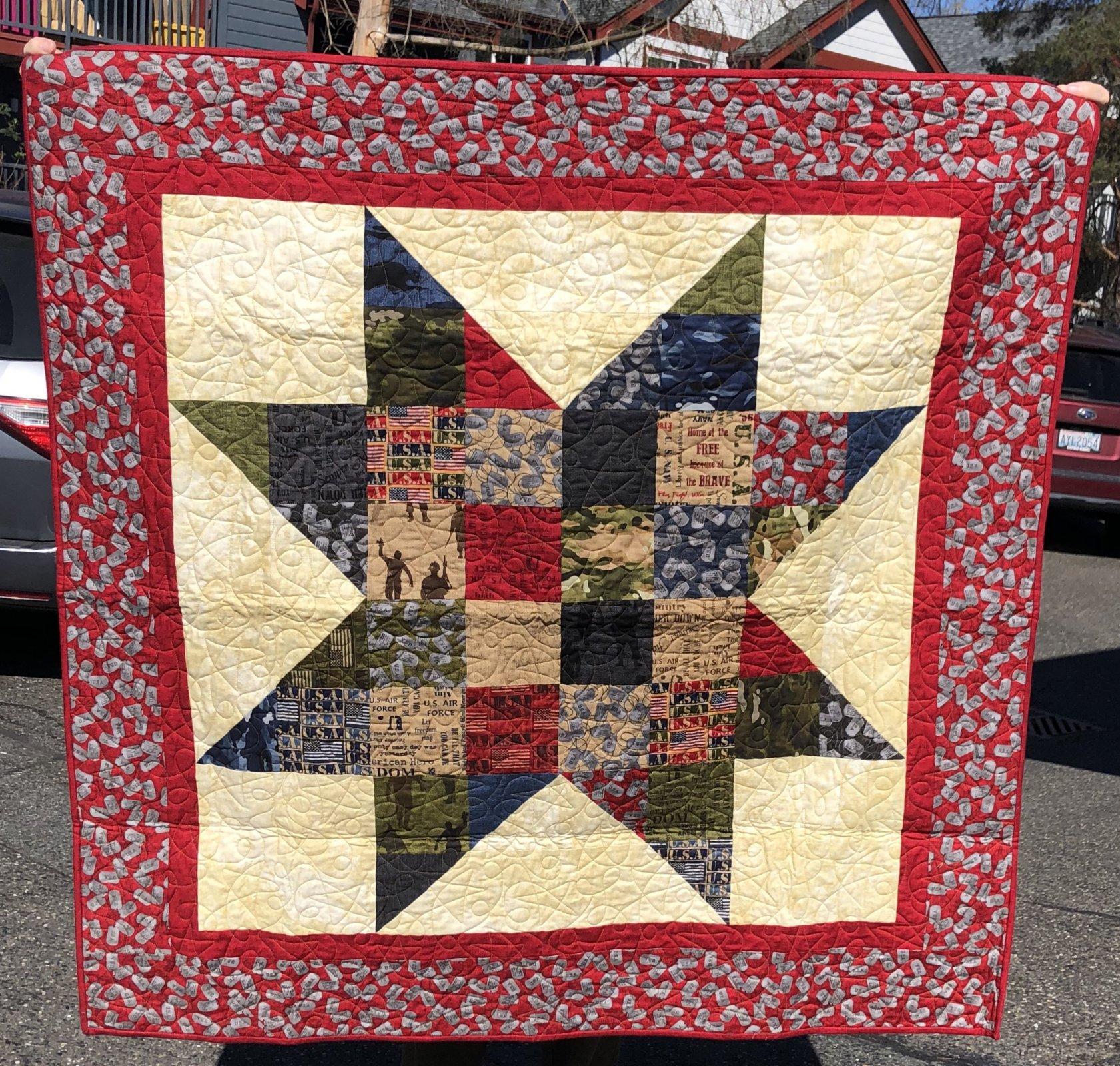 April 2021 Free Quilt Pattern Charm Star