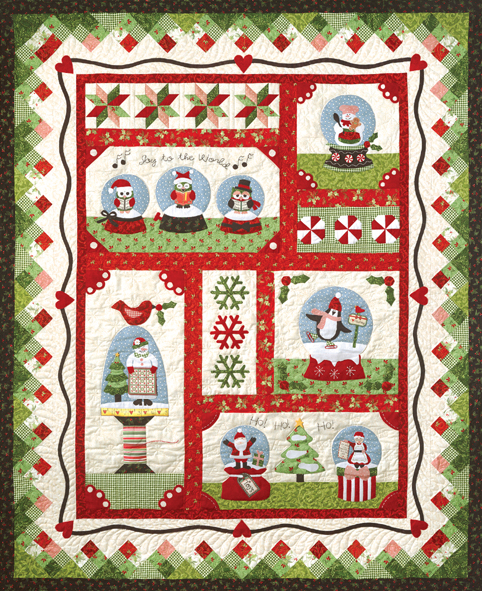 Snow Globe Village Kit by The Quilt Company