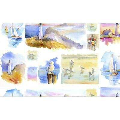By The Shore 10652 Wht Small Panel