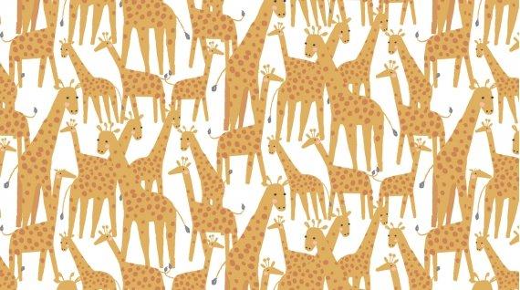 Giraffes by Dear Stella 1217 White