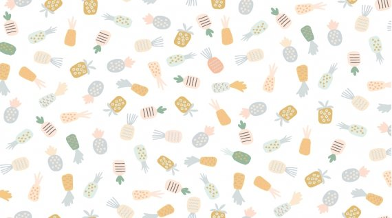 Tossed Pineapples by Dear Stella 1218 White