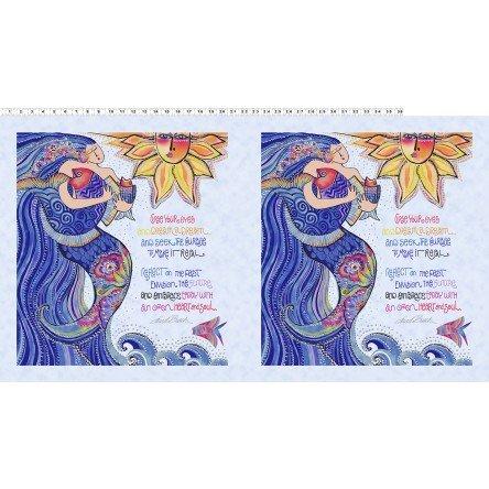 Sea Goddess Light Periwinkle Panel Y2596-84M
