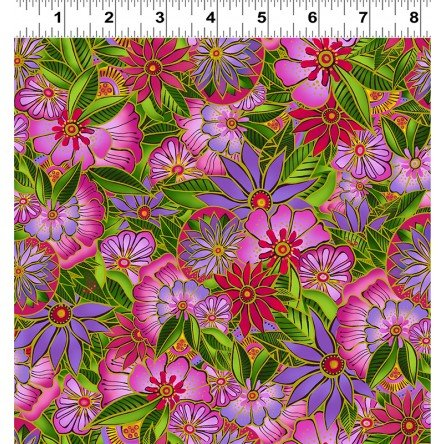 Sea Goddess Fuchsia Medium Floral Y2599-77