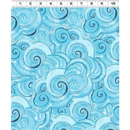 Sea Goddess by Laurel Burch Aqua Swirls y2602-33