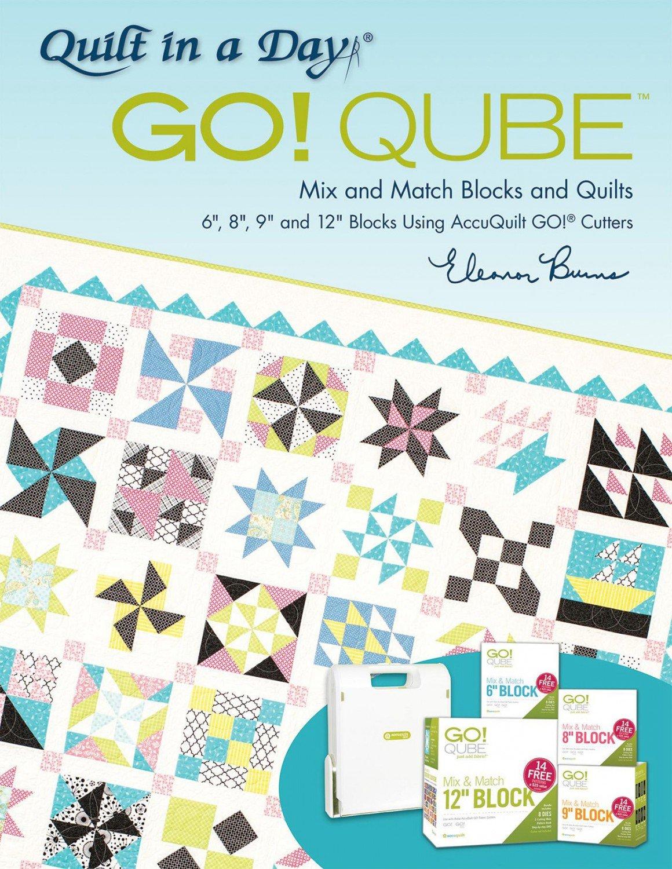 Accuquilt GO! Qube Mix Match Blocks Quilts Book Eleanor Burns