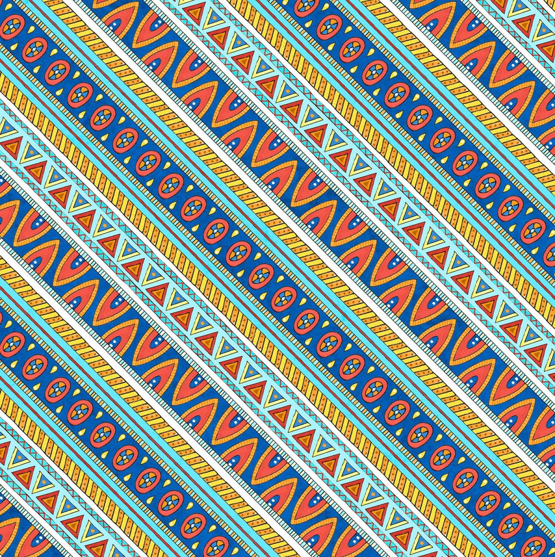 Multi Arctic Wonderland Blue/Red Diagonal Stripe