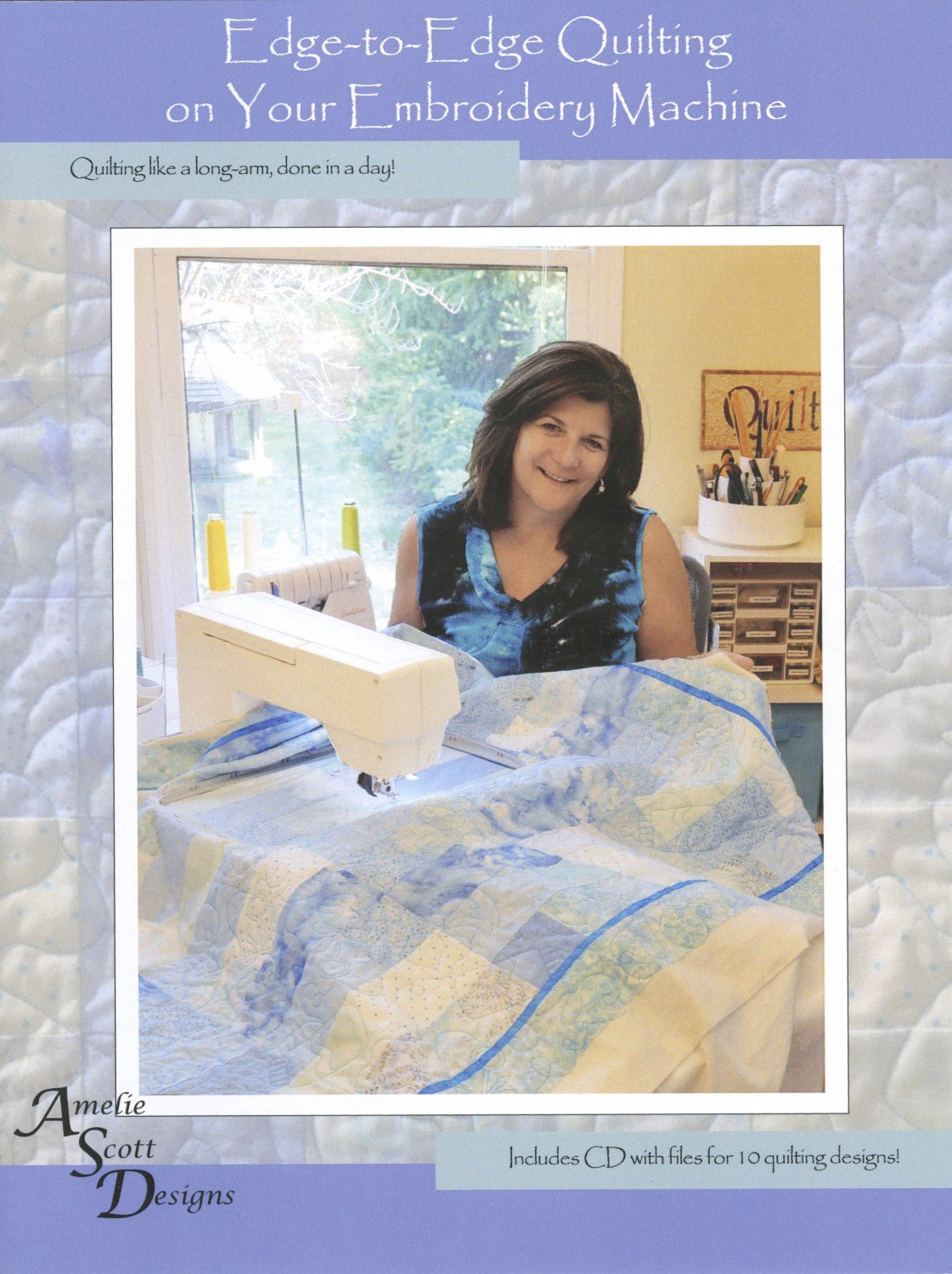 Edge-to-Edge Quilting on your Embroidery Machine Book - Softcover