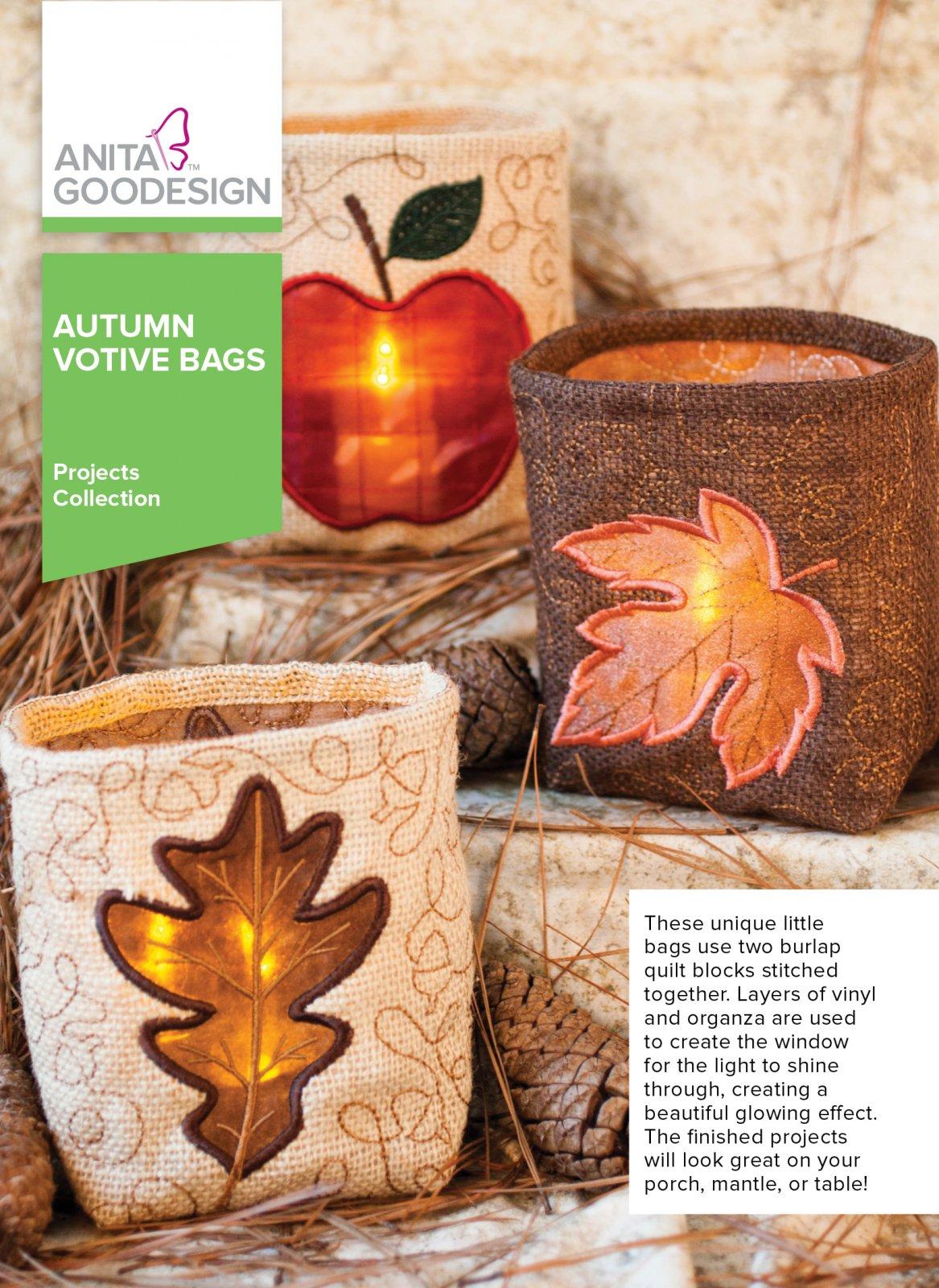Anita Goodesign autumn votive bags
