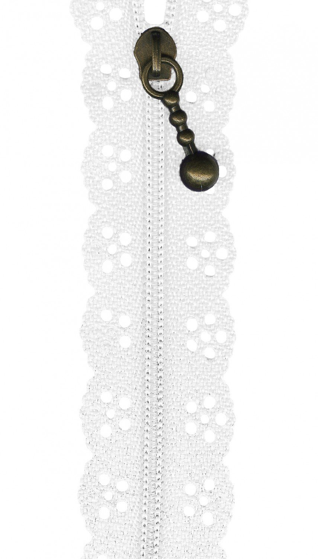 The Little Lacie Zipper white
