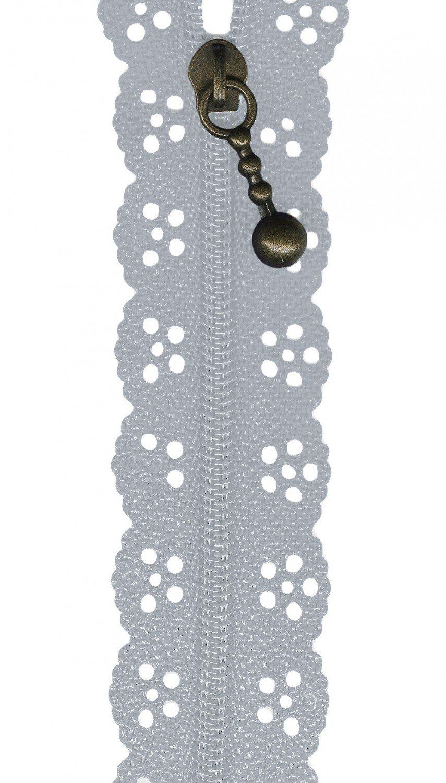 The Big Lacie Zipper  gray 12in