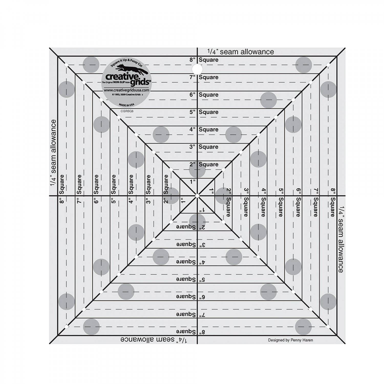 Creative Grids 8 1/2 Square It Up Fussy Cut Ruler
